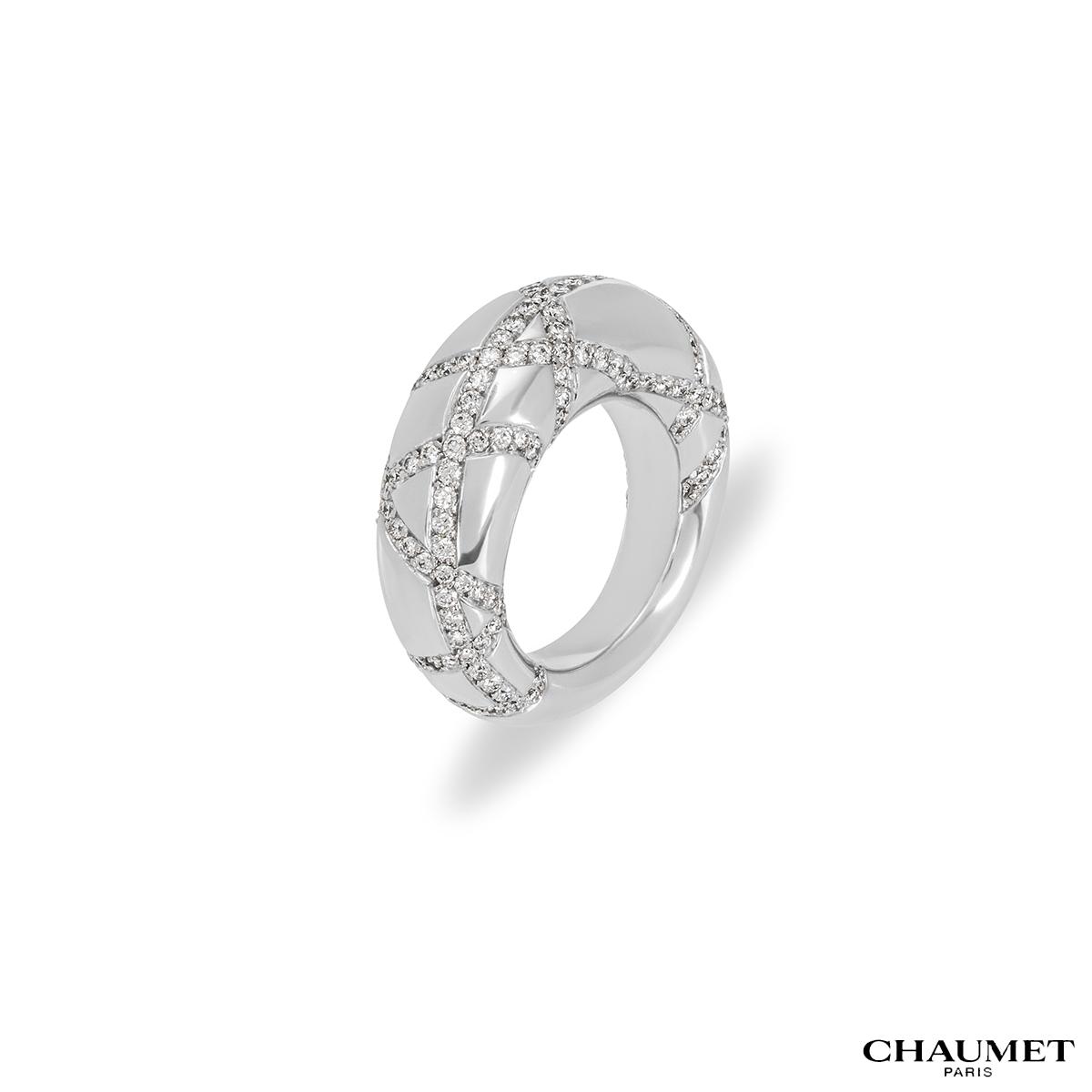 Chaumet White Gold Diamond Dress Ring